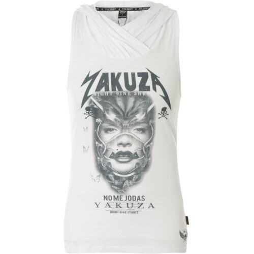 YAKUZA Damen Hoody No Me Jodas Hooded Tank Shirt GSB-14156 White Weiß