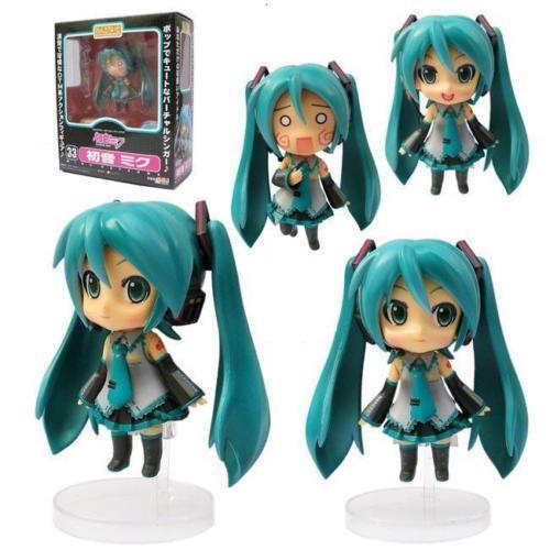 "Anime VOCALOID Nendoroid Hatsune Miku 4/"" Figure Toys Kawaii PVC Model Doll Xmas"
