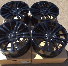 "SET OF FOUR 20"" x9.5"" WHEELS RIMS for LAND RANGE ROVER HSE SPORT LR4 BLACK NEW"