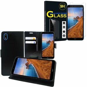 Xiaomi-Redmi-7A-5-45-034-Etui-Coque-Housse-Vitre-Verre-Trempe-Protecteur-d-039-ecran