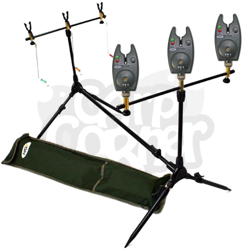 NGT Indikator Karpfen Angelrute Gehäuse Set 3 X Schwarz Bissanzeiger Indikator NGT Swinger & 5ddb7c