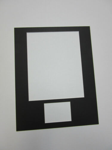 Picture Frame Mat 11x14 for 5x7 photo and index card WHITE MAT