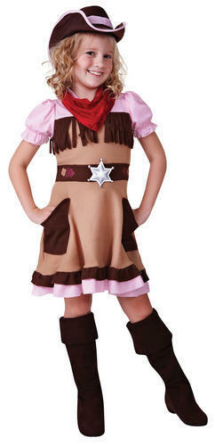 Cowgirl Cutie Hat Girls Fancy Dress Wild West Cowboys /& Indians Kids Costume