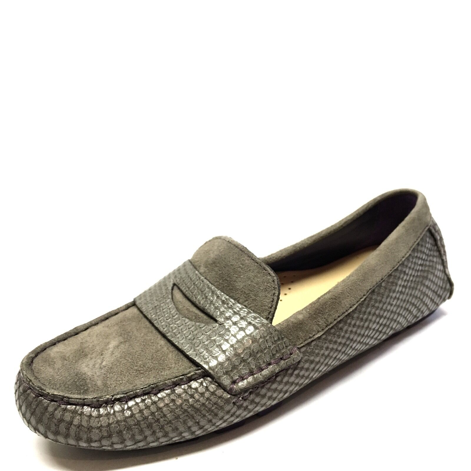 Cole Haan Air Sadie Damenschuhe Gray Suede Croc Driving Mocs Loafers Größe 5.5 M