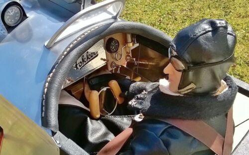 "1//4.5 ~ 1//4 Scale 15/"" Tall WWI German RC Pilot Figure"