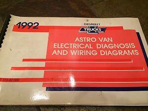 1992 Chevy Chevrolet Astro Van Electrical Wiring Diagrams ...