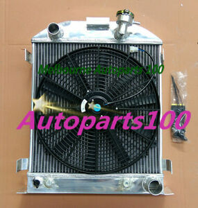 3 ROW 62MM Aluminum Radiator For Ford 1932 chopped hot rod w//Chevy 350 V8 engine