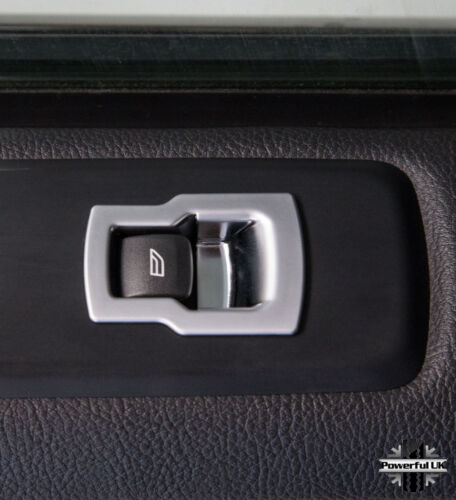 Silver trim interior window button switch covers for Discovery 4 HSE Luxury LR4