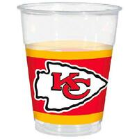 Kansas City Chiefs Nfl Football Sports Banquet Party 16 Oz. Clear Plastic Cups