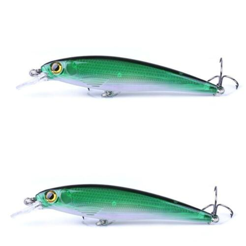 1*10 Colors Fishing Minnow Fishing Lures Baits Tackle Bass