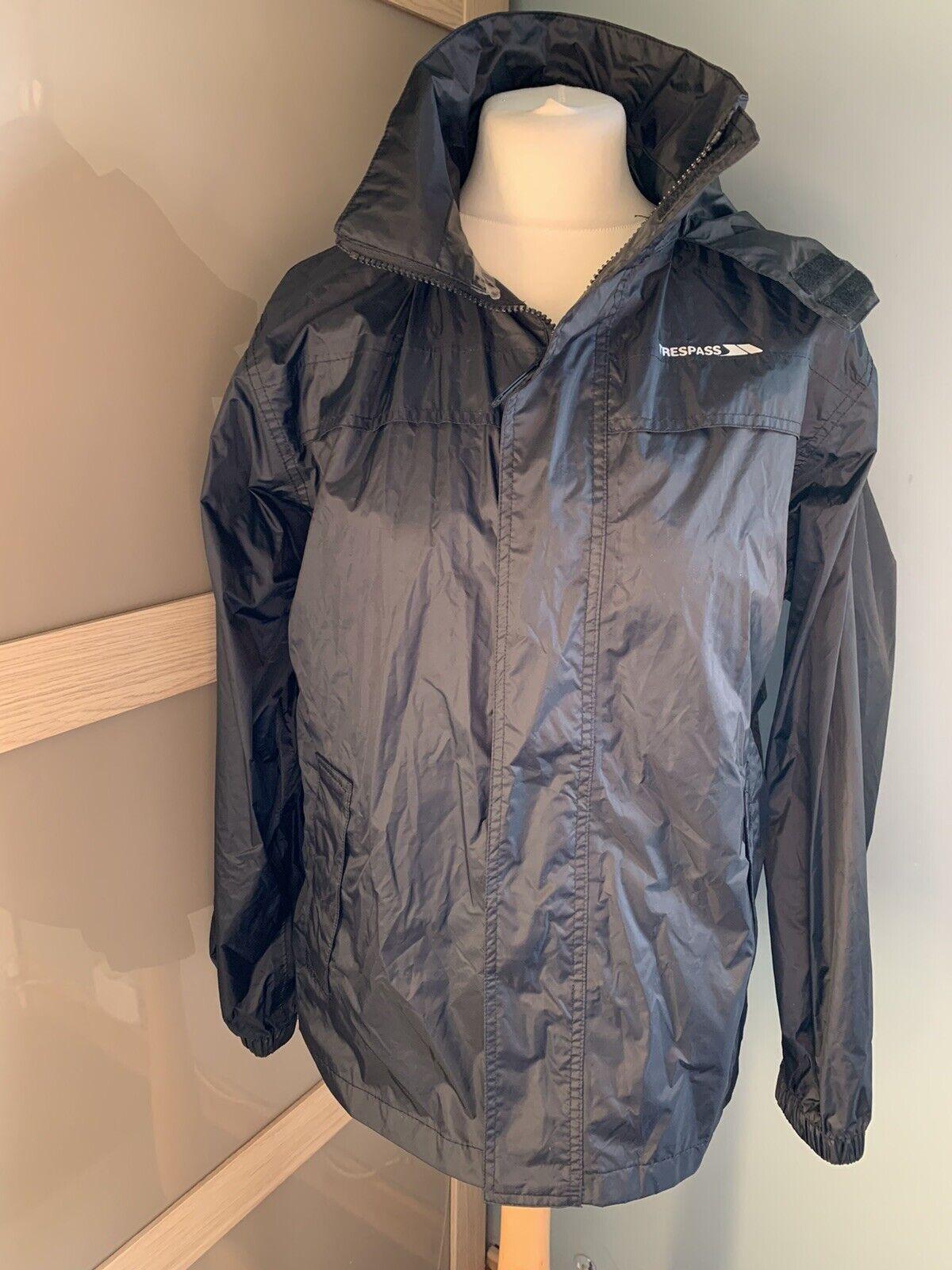 Trespass Black Lightweight Rain Jacket Size XXS Sports Outdoor Walking