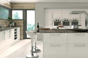 High Gloss White Kitchen Cabinet Cornice Amp Pelmet Vinyl