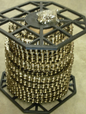 """#50NP 50NP-1R 5//8/"""" Nickel Plated Roller Chain 10 Ft Box With Connecting Link"""