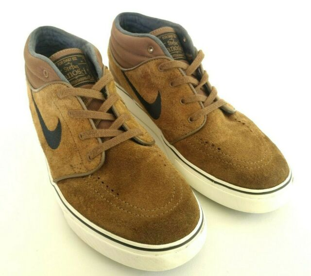 Stefan Janoski Nike SB Zoom Mens Size 7.5 Brown Mid Top Skateboarding Shoes