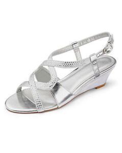 LADIES-SILVER-EXTRA-WIDE-FIT-EEE-COMFY-LOW-HEEL-DIAMANTE-WEDGES-SHOES-SIZES-4-9