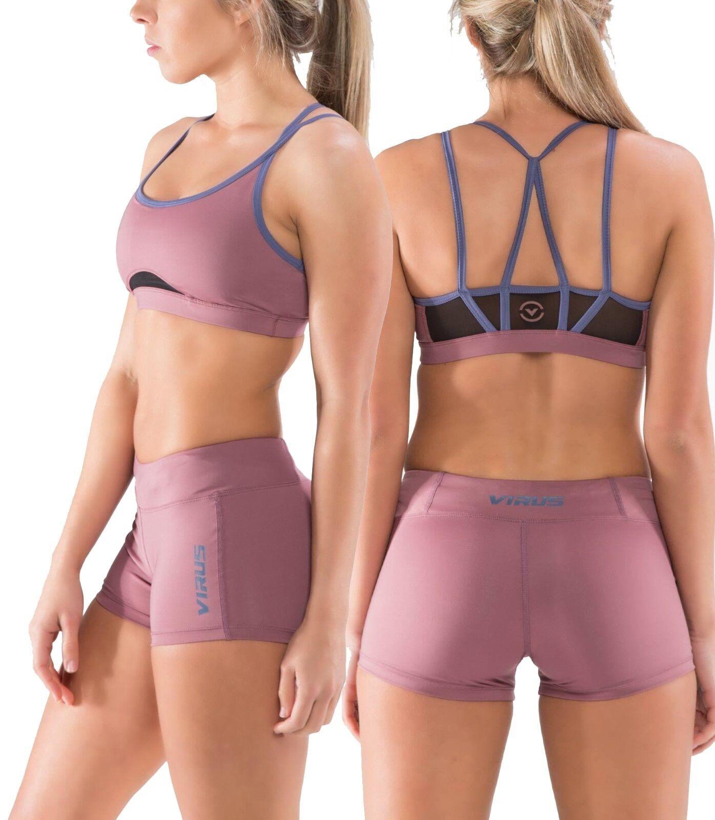 Virus ECo51 Womens Onyx Stay Cool Sports Bra,Crossfit ,Gym,Workout,Yoga,Running