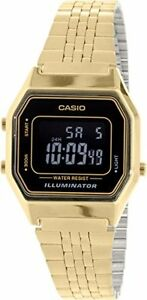 Casio-Women-039-s-Illuminator-Digital-Gold-Tone-Stainless-Steel-Watch-LA680WGA-1B