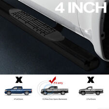 """4"""" OVAL BLK SIDE STEP NERF BARS RUNNING BOARD 99-13 CHEVY SILVERADO EXTENDED CAB"""