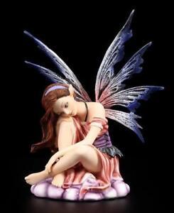 Elfen Figur - Red Dawn - Fee Dekofigur sitzend Fairy Deko Fantasy