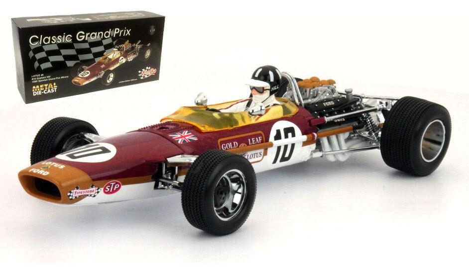 QUARTZO 18214 LOTUS 49 GP d'Espagne 1968-graham hill champion du monde échelle 1 18
