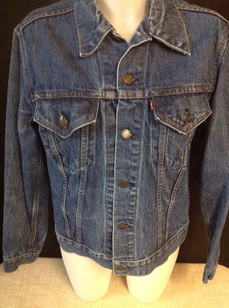 VINTAGE LEVIS JEAN Jacket Denim TRUCKER Made In U… - image 3