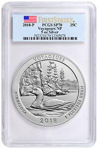 2018-Voyageurs-5-oz-Silver-ATB-Specimen-Coin-PCGS-SP70-FS-Flag-Label-SKU51793