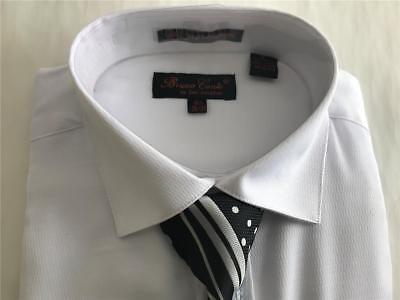 Men/'s Bruno Conte Lilac//Lavender Diamond Design Dress Shirt,Tie,Hanky,Cufflinks