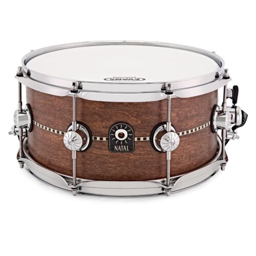 """Satin Finish Natal 13/"""" Cafe Racer S-TW-S365-IWS Inlay Snare Drum"""
