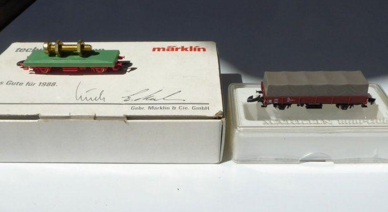 Vagone speciale Märklin scala Z Alles BUONO PER 1988 TECNIC IMPARARE + 1X