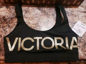 fe346bf033a08 Image is loading Victoria-039-s-Secret-Sport-Black-Glitter-Victoria-