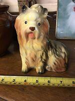 Vintage English Sitting Yorkshire Terrier,Yorkie,Australian Silky Dog Figure
