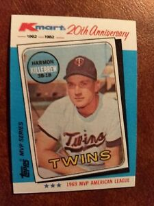 Details About 1982 Topps Kmart 20th Anniversary Baseball Card 15 Harmon Killebrew