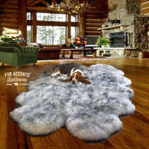 Shag-Faux-Fur-Area-Rug-Quatro-Thick-Faux-Flokati-Sheepskin-Pelt-Fleece-USA