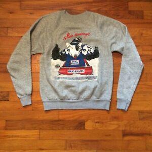 Spuds-Mackenzie-Bud-Light-Gray-Crewneck-VINTAGE-1987-Party-Animal-Sweatshirt-S-M