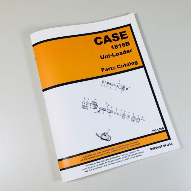 s l640 j i case 1816b uni loader parts manual catalog skid steer assembly