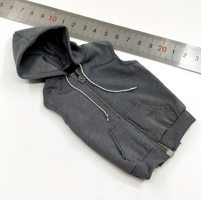 1//6 Scale Male Soldiers Accessories Clothes Sleeveless Fleece Hoodies 3 Colors