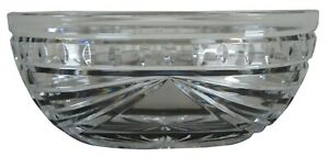 Waterford-Cut-Crystal-Overture-Oval-Centerpiece-Candy-Sugar-Bowl-Nut-Dish-10-034
