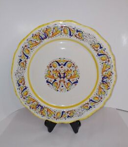 MERIDIANA-CERAMICHE-Vintage-Italian-Art-Pottery-11-Dinner-Plate