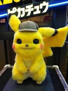 Pokemon Detective Pikachu Plush Doll Stuffed Toy Movie 2019 Cos
