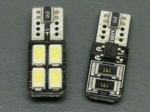 Lampadine-Led-Auto-Moto-T10-W5w-Canbus-4-Smd-5630-una-Faccia