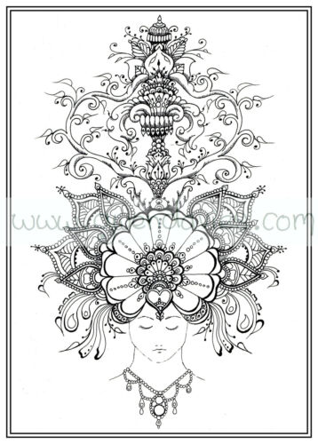 Dessin Calligraphie Adulte Livre De Coloriage Zen Hennamehndi Art Jardin Calme Art Therapie Pcprinter Com Mx
