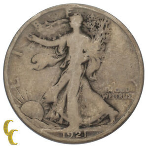 1921-D-Silver-Walking-Liberty-Half-Dollar-50C-Good-G-Condition
