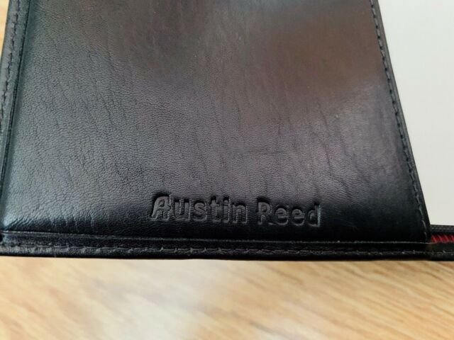 Very Rare Vintage Austin Reed Leather Slip Case With Silver Leaf Bound Journal Ebay
