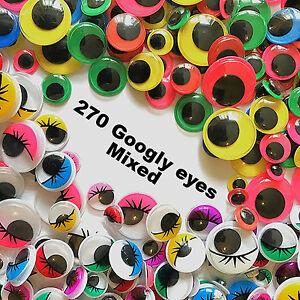 Autoadesivo-adesivo-Occhioni-MATTACCHIONI-colorate-e-ciglia-Craft-Mix-270-PEZZI