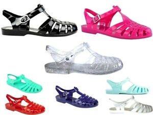Details about LADIES WOMENS JELLY SHOES BEACH SANDALS SUMMER HOLIDAY FLIP FLOPS SEA SHOE SIZE