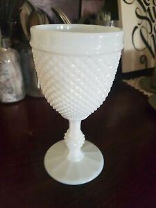 Vintage-Milk-Glass-Hob-Nail-Goblet-Casa-Pupo-London-Portugal-1960-039-s-70-039-s-EUC