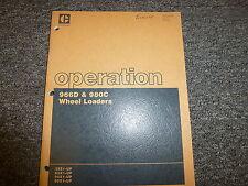 Caterpillar Cat 966D & 980C Wheel Loader Owner Operator Maintenance Manual Book