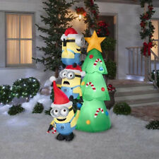 Inflatable Christmas Tree Outdoor Yard Decoration Lighted Airblown 6ft  Minions