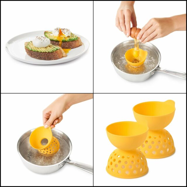 Oxo Good Grips Silicone Egg Poachers Set Of 2 For Sale
