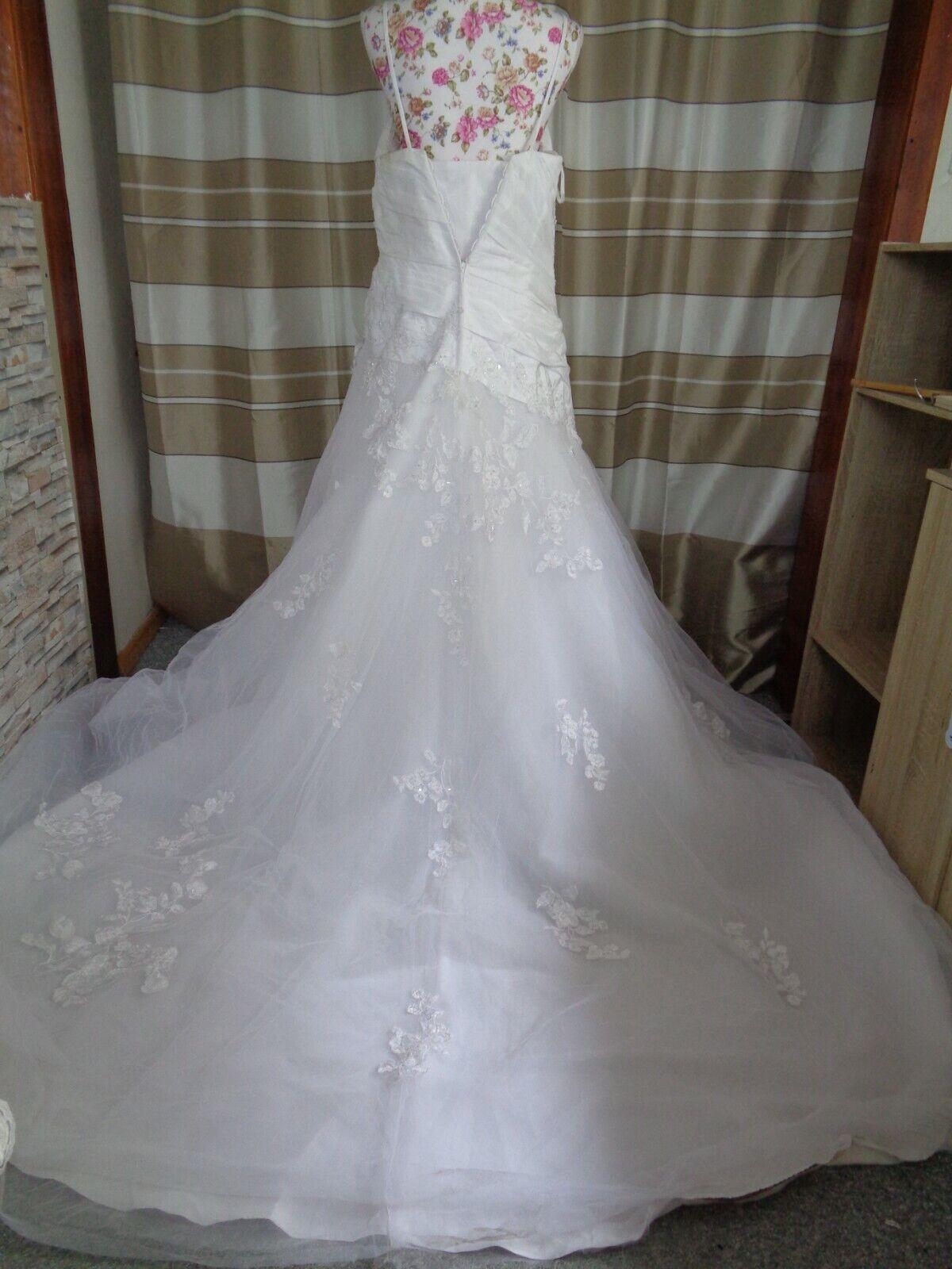 (B909)Edles Damen Braut Standesamt Abend Kleid GR: 42